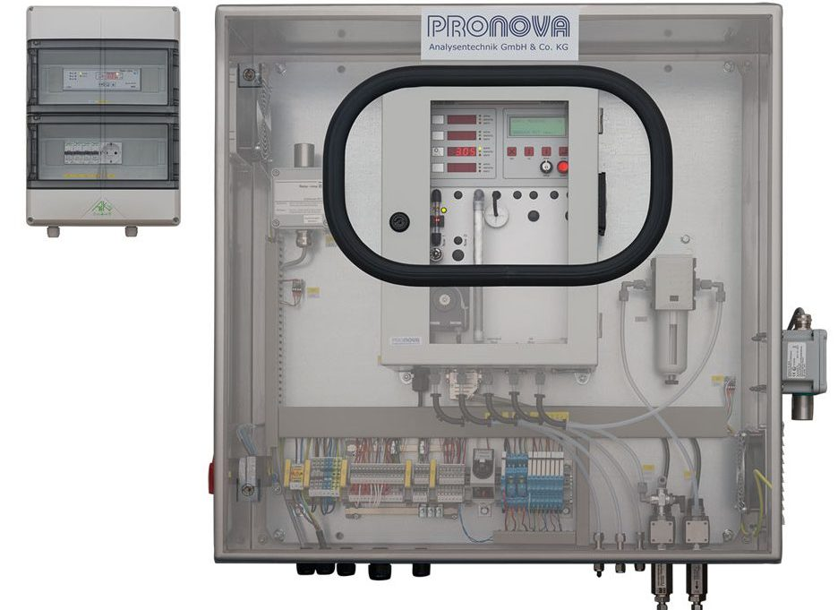 Pronova - Biogasanalysensystem für Exzone 2 im Innenbereich: CH4, CO2, O2, H2, H2S Konzentrationen